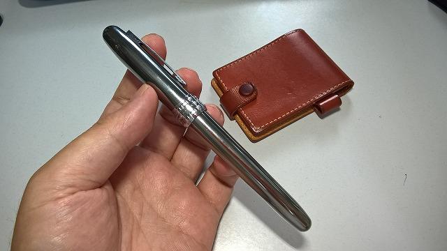 文具おやぢ・プラチナ万年筆の1000円万年筆・プレジールのガンメタを使う