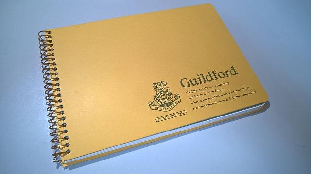文具おやぢ・おしゃれな方眼ノート Guildford B6 縦形