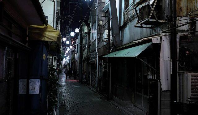富士フイルムX-T10/XF 23㎜ F1.4で金八先生の舞台・北千住を歩く♪ (4/4) 夜の柳原千草通りを歩く
