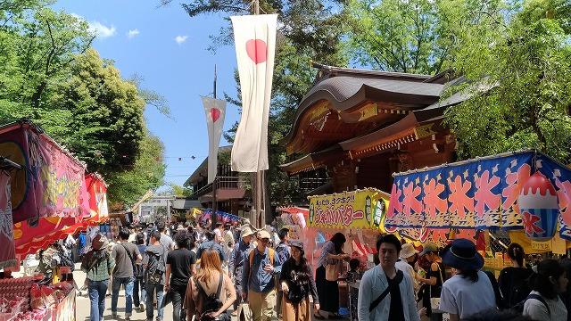 府中の大國魂神社例大祭「くらやみ祭」に日中行ってみた(5月6日まで)